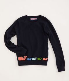 Whales in a Row Sweater. And they have a similar one for Momma, too. Love it!