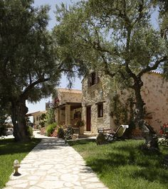 Paliokaliva village is a private complex just 1 km from Tsilivi resort with 18 stone-built, fully private traditional villas, studios, and apartments Most Beautiful, Villa, Vacation, Holidays, Traditional, Mansions, House Styles, Places, Travel