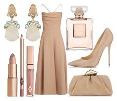 """""""Naked"""" by xoxbiaxox ❤ liked on Polyvore featuring Valentino, Jimmy Choo and Chanel"""