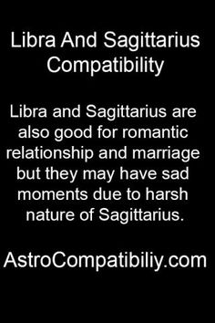 libra dating a sagittarius The intensity of emotional contact and intimacy between a libra and a sagittarius will mostly depend on other factors in personal charts, but they will most certainly enjoy their sexual relationship.
