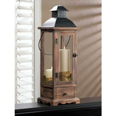 Mount Vernon Wooden Candle Lantern - Large