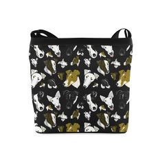 Smooth fox Terrier black Crossbody Bags (Model 1613)