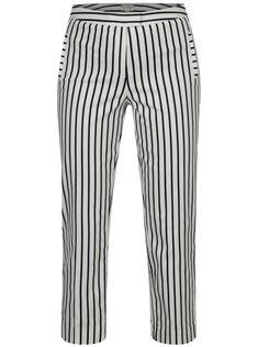 010f2ca423dd Modro-biele kostýmové pruhované skrátené nohavice s vysokým pásom Miss  Selfridge