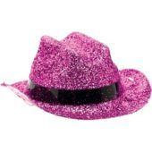 $1 Mini Pink Glitter Cowboy Hat - Party City