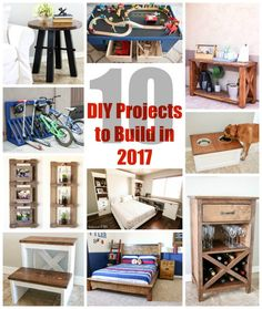 10 Great DIY Projects to Build for 2017 #diy #diyhomedecor #diyproject