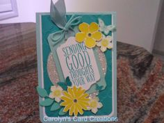 Carolyn's Card Creations: Just Add Ink 209 Just add.... Layers Challenge - Sending Good Thoughts