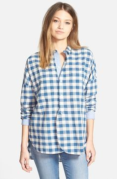 Madewell Button Front Gingham Shirt available at #Nordstrom