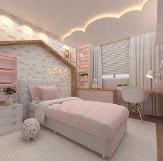 Plush teen girl bedrooms ideas for that exciting teen girl bedroom decor, image suggestion 1627884109 Room Design Bedroom, Kids Bedroom Designs, Home Room Design, Kids Room Design, Bedroom Decor, Bedroom Lamps, Bedroom Lighting, Cozy Bedroom, Dream Rooms