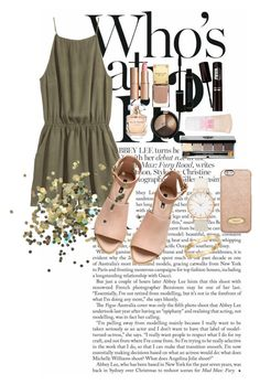 """""""Who's that girl?"""" by stylemeh ❤ liked on Polyvore featuring H&M, Charlotte Tilbury, MICHAEL Michael Kors, Maybelline, Topshop, Elie Saab, Bobbi Brown Cosmetics and Cachet"""