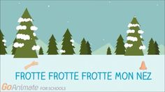 "French winter videos for kids. Simple lyric video with some helpful graphics for the song ""la neige tombe sur mon nez"" For classroom use"