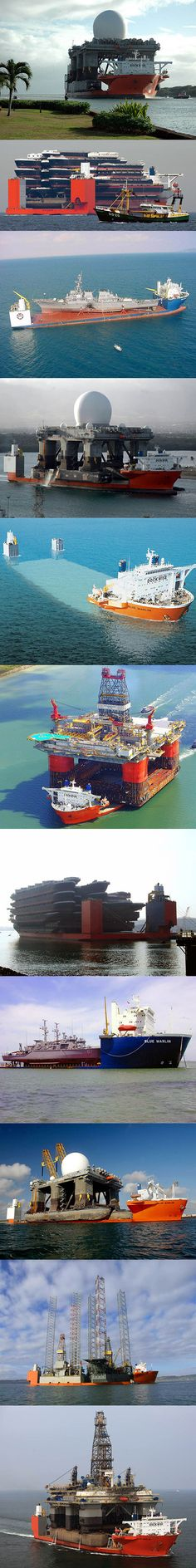 Blue Marlin is basically a semi-submersible heavy lift ship designed to transport very large semi-submersible drilling rigs and other ships, above the transport deck. Its equipped with 38 cabins to accommodate 60 people, a workout room, sauna and swimming facilities.