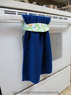 Carole's Corner of Crafts: Sewing – Oven Door Hanging Towel