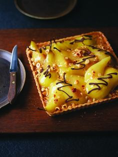 Book of the Week: Tart It Up! By Eric Lanlard + Recipe - Ren Behan - Author Wild Honey and Rye Winter Cakes, Sweet Pie, Sweet Tarts, Pear Recipes, Sweet Recipes, Eric Lanlard, Pear Tart, Famous Recipe, Happy Foods
