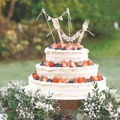 #weddingtbt * ウェディングケーキ * ネイキッドケーキを お願いしました(^○^) * * 普通の3段だととっても 大きくて自分たちが隠れちゃう…