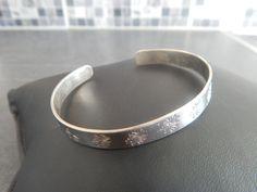 """Bracelet jonc """"Lili"""" argenté motif Pissenlits : Bracelet par bijou-lie"""
