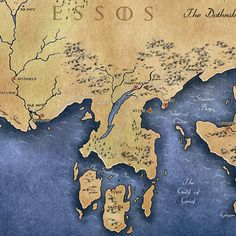 Game of Thrones Map of Westeros and Essos Game of Thrones