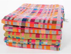 Handwoven blankets - love the colors. Could I do something similar on my Martha Stewart loom?