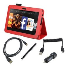EEEKit Starter Kit for Kindle Fire HD 8.9 Accessory Bundle, Stand Case Red + Stylus Pen + Dual USB Car Charger + Micro USB Spring Cable + Micro HDMI Cable(1.8m) by EEEKit. $21.51. Buy as a kit and save! Have bought a Kindle Fire HD 8.9 inch, now what? This affordable package is a quick and easy way to get started, with everything you need to make the most of your Kindle Fire HD 8.9 inch in the cockpit or at home. Standing PU Case can make your reading or typing very comfort...