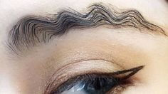 Thanks to squiggle brows your eyebrows can finally look like tiny snakes