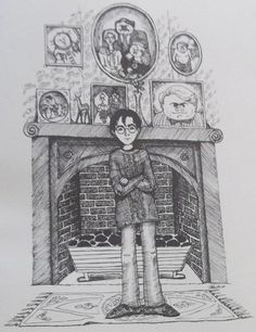 Harry Potter in Privet Drive by J.K. Rowling - Drawing