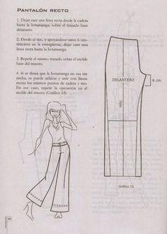 modelist kitapları: Miguel Angel Cejas - confección y diseño de ropa Mccalls Patterns, Sewing Patterns, Sewing Alterations, Sewing Pants, Wide Trousers, Modelista, Skirt Pants, Sewing Techniques, Pattern Making