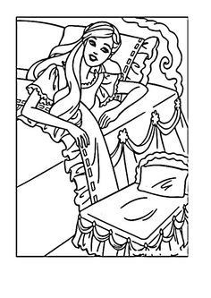 Barbie Coloring Pages 4