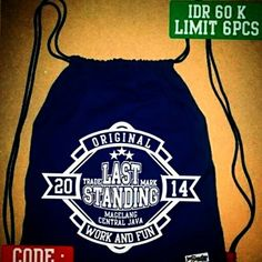 IDR 60K(blm ongkir)+free stickers  MORE INFO SMS 085725070425 WA 085643042245 BBM 51313ECB IG LAST.STANDING