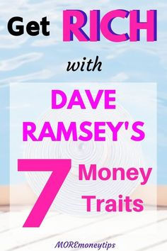 Dave Ramsey says this about the 7 behaviors towards becoming debt free. Learn what More Money Tips says you can DO to adopt the 7 debt-free behaviors. Financial Peace, Financial Tips, Tony Robbins, Money Tips, Money Saving Tips, How To Become Rich, Managing Your Money, Dave Ramsey, Frugal Tips