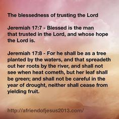 Jeremiah 17 7 - Google Search