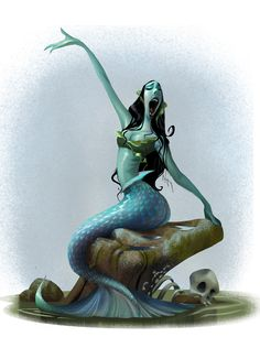 ArtStation - Singing Mermaid, Wanchana Intrasombat