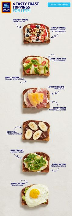 Save on tasty toast toppings! Weight Loss Plan For Couples Keto Meal Plan, Healthy Meal Prep, Healthy Snacks, Healthy Eating, Diet Recipes, Cooking Recipes, Healthy Recipes, Recipies, Good Food