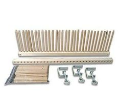 Table Weaving Peg Loom - There are two looms included in this set, making a possible 1 yard (1 meter) wide project. Make rugs, scarfs, jackets and wall art with this very diverse loom!