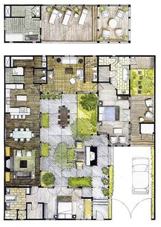 I stayed here a few years ago and have such great memories. I would love to build a home based on this floor plan!!! | The Carneros Inn - Homes | Vacation Homes in Napa