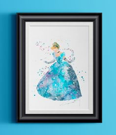 Watercolor Cinderella Home Print | 8 x 10 | Wall Decor
