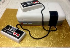 Nintendo cake - Mueller's Bakery! Nintendo Cake, Computer Mouse, Wedding Cakes, Bakery, Toys, Pc Mouse, Wedding Gown Cakes, Activity Toys, Clearance Toys
