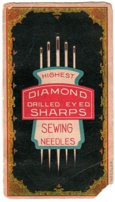 Vintage sewing needle package by meghan