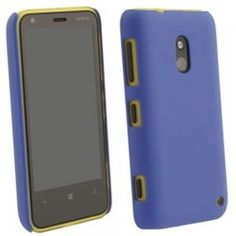 Nokia Lumia 620 Compatible Rubberized Protective Cover - Blue - $7.95