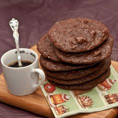 flourless and gluten free double shot espresso cookies.