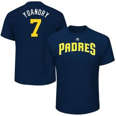 """Manuel Margot """"Yoandry"""" San Diego Padres Majestic 2017 Players Weekend Name & Number T-Shirt - Navy"""