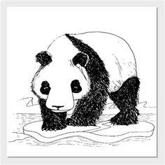 Alper Çelik - Bahtsız Panda - Kendin Tasarla - Kanvas Tablo 25x25cm Kare
