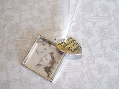Wedding Bouquet Memorial Photo Charm, Wedding Bouquet Charm- PICTURE PRINTING INCLUDED on Etsy, $12.00
