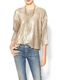 Line & Dot Sequin Blouse | Piperlime