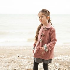 Children's Pixie Pea Coat - The Foldline Coat Pattern Sewing, Sewing Patterns For Kids, Coat Patterns, Sewing For Kids, Clothing Patterns, Sewing Ideas, Sewing Projects, Sewing Tips, Sewing Kids Clothes