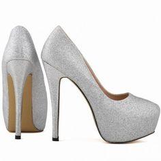 bbd43da465 Scarpin - Brilhante Prata - Scarpins - Sapatos Importados - Sapatos
