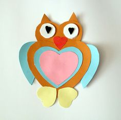 Valentine's day craft for kids---- heart shape owl :)