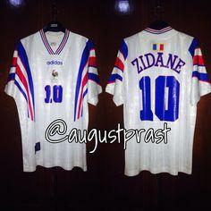 France Away Zidane France Jersey, Adidas, Shirts, Tops, Fashion, Moda, Fashion Styles, Dress Shirts, Fashion Illustrations