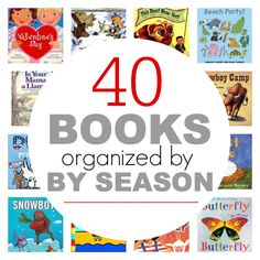 Picture book organized by season perfect for lesson planning. Preschool and kindergarten books. Best Books List, Book Lists, Good Books, Reading Lessons, Reading Activities, Reading Projects, Stem Activities, Educational Activities, Kindergarten Reading