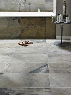 Bengal Autumn for the walls and monaca pearl mosaic for shower/wet room floor