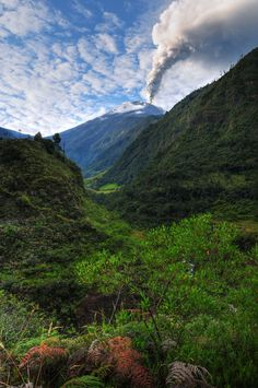 Tungurahua Volcano (Ecuador)... still pretty active.