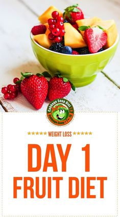 find here detailed infos on your fruit diet day, the first diet day of the cabbage soup diet week.